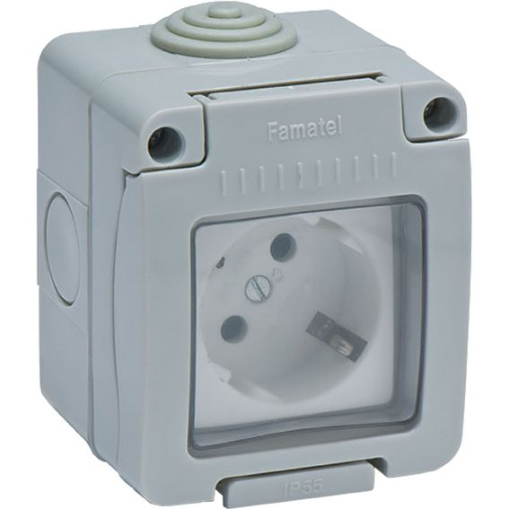 BASE 19071 DOBLE TTL ESTAN.IP55 16A-250V