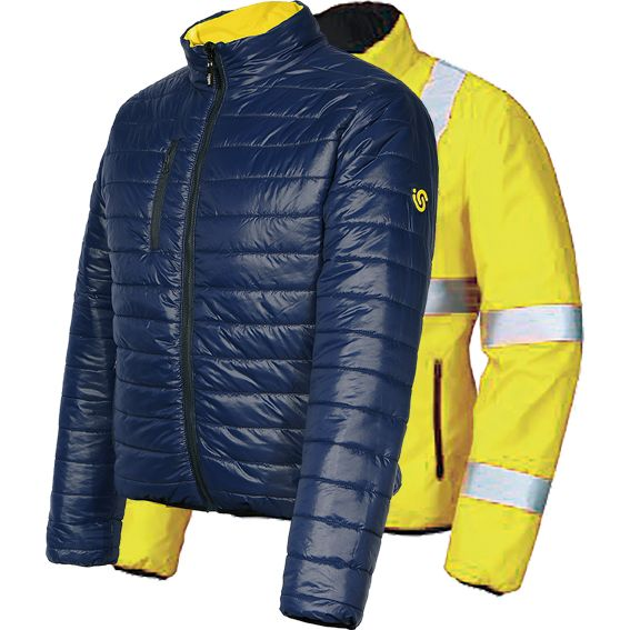 CHAQUETA BLUNDER A.V. REVERSIBLE AMARILLO FLUO T-S