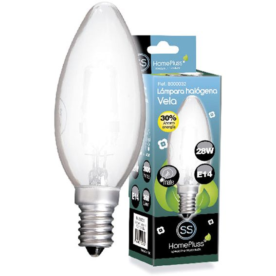 LAMPARA HALOGENA ECO VELA MATE E14 42W